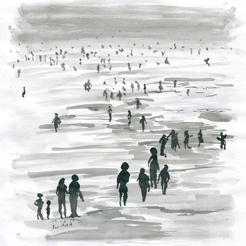 People at the Seashore
