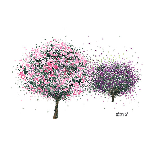 Pink and Purple Trees