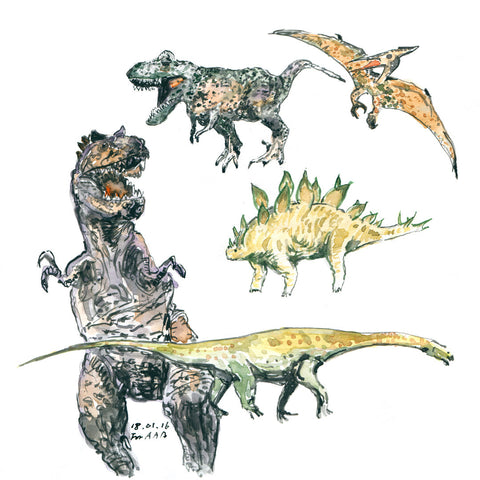 Group of Dinosaurs