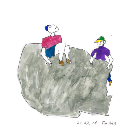 Children on a Rock