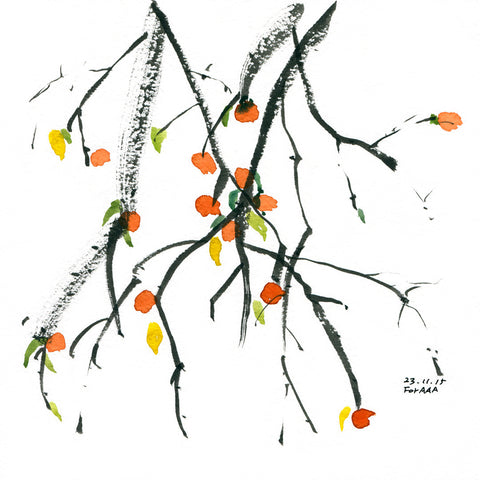 Persimmons on a Tree