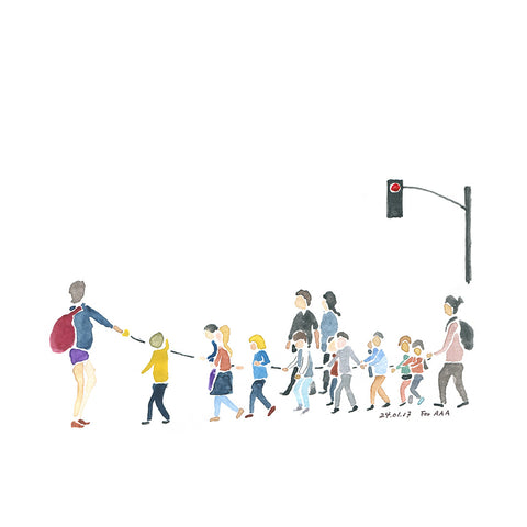 Children Crossing the Street