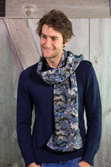 Blue Camouflage (Scarf)
