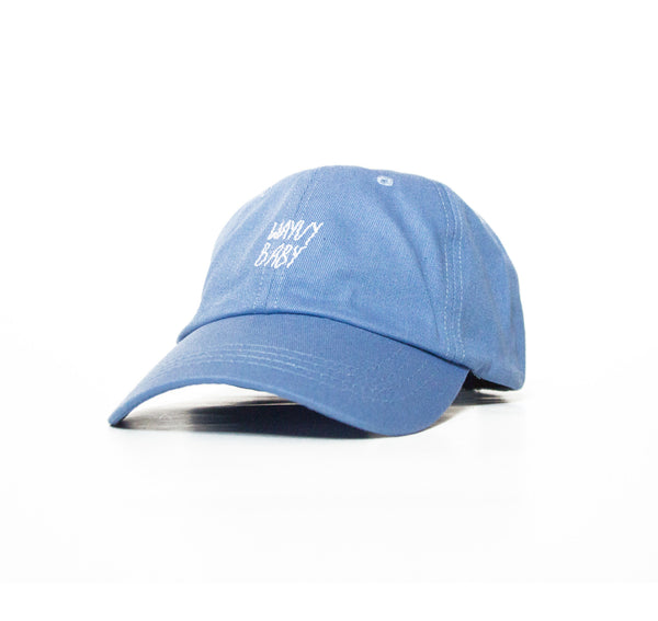 """WAYVYBABY"" BOX LOGO - SERENITY BLUE - DRIP DAD HAT"