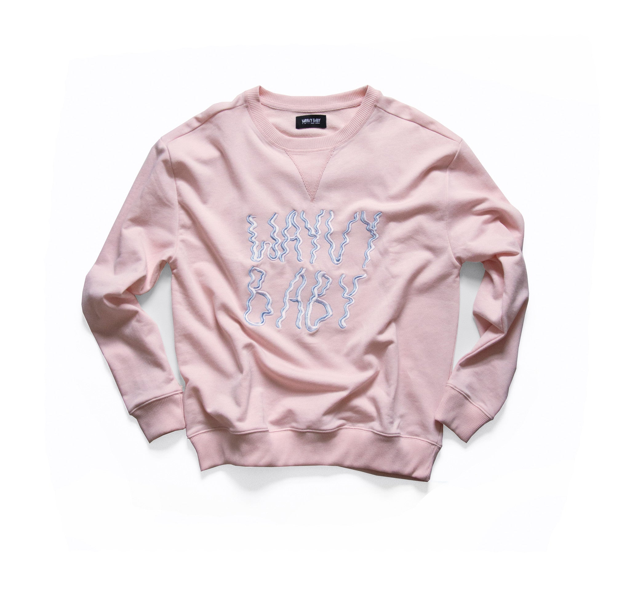 """NEEDLEPOINT"" - ROSE QUARTZ - CREWNECK"