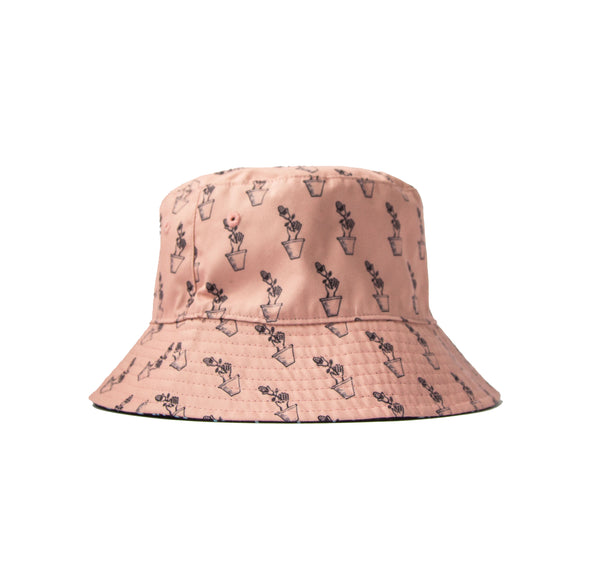 Two Tone Flower Bucket Hat