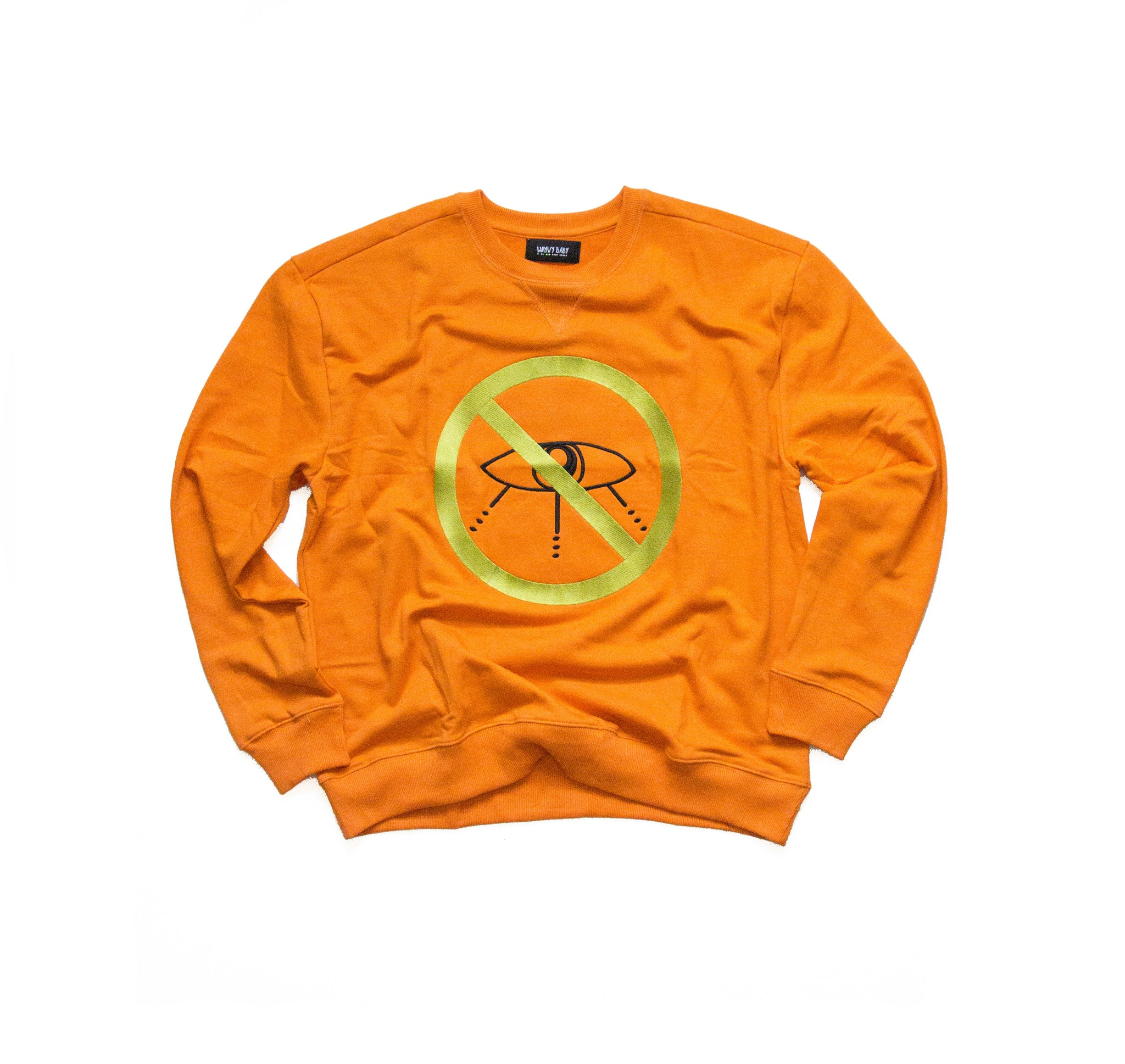 """NEEDLEPOINT"" - NEO ORANGE - CREWNECK"
