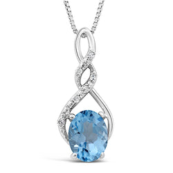 blue topaz and diamond necklace