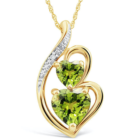 Peridot Necklace yellow gold