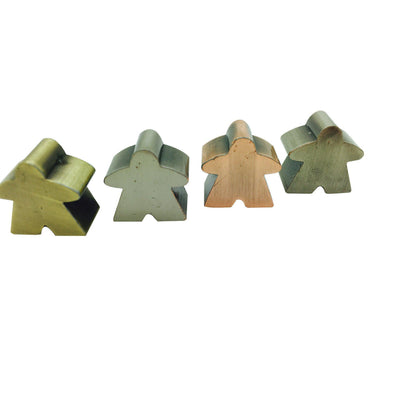 10 Pack of Metal Meeples (Random Colors)-Accessories-Norse Foundry-DND Dice-Polyhedral Dice-D20-Metal Dice-Precision Dice-Luxury Dice-Dungeons and Dragons-D&D-