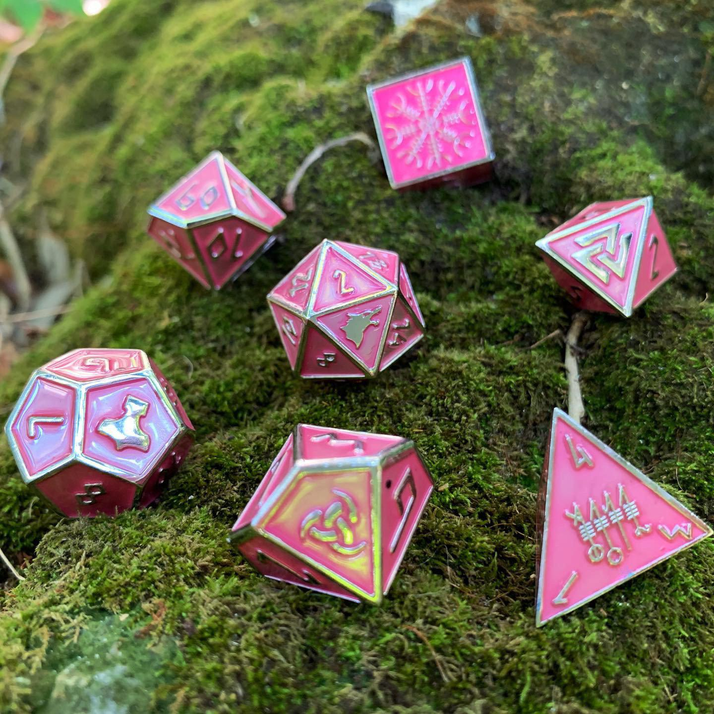Sirens Song - Norse Themed Metal Dice Set
