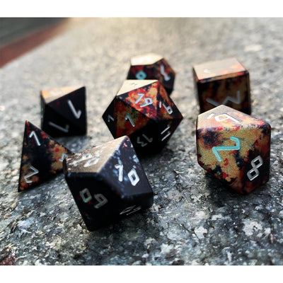 Vampire Lord - Wondrous Dice Set of 7 RPG Dice Norse Font by Norse Foundry Precision Polyhedral Dice Set