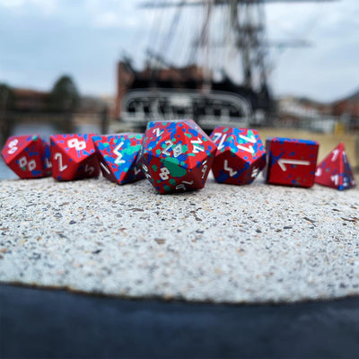 Lost Relic - Wondrous Dice Set of 7 RPG Dice Norse Font by Norse Foundry Precision Polyhedral Dice Set