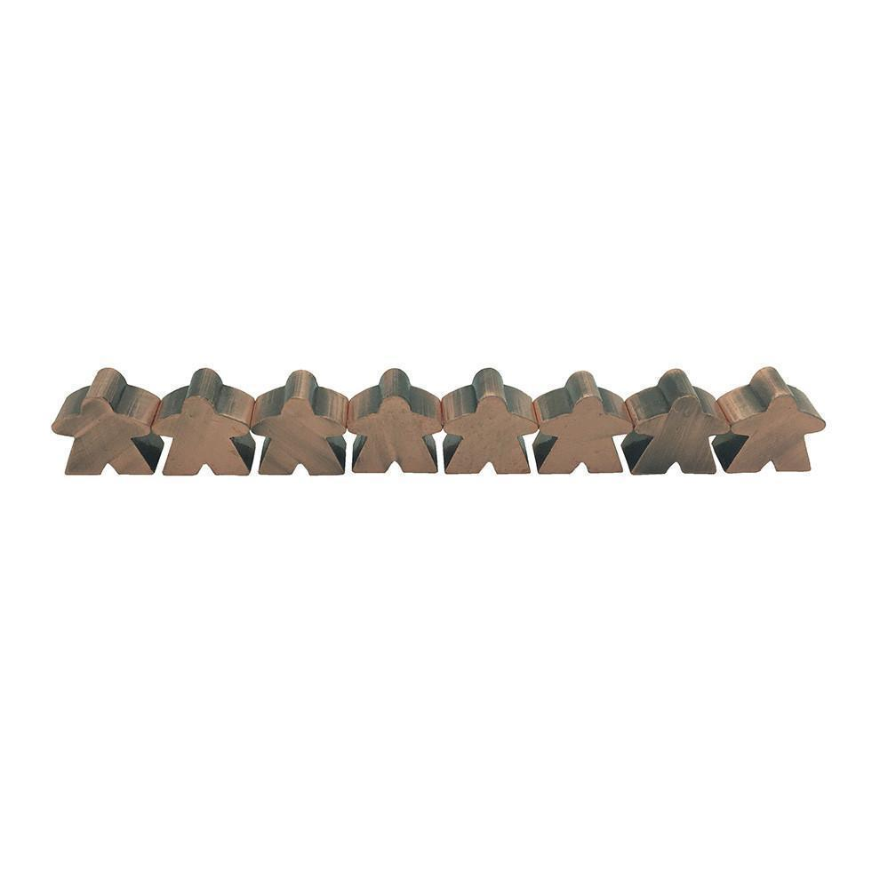 8 Pack of Antique Copper Metal Meeples by Norse Foundry-Accessories-Norse Foundry-DND Dice-Polyhedral Dice-D20-Metal Dice-Precision Dice-Luxury Dice-Dungeons and Dragons-D&D-