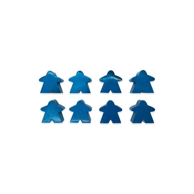 8 Pack of Blue Metal Meeples by Norse Foundry-Accessories-Norse Foundry-DND Dice-Polyhedral Dice-D20-Metal Dice-Precision Dice-Luxury Dice-Dungeons and Dragons-D&D-