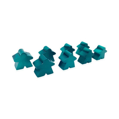 8 Pack of Green Metal Meeples by Norse Foundry-Accessories-Norse Foundry-DND Dice-Polyhedral Dice-D20-Metal Dice-Precision Dice-Luxury Dice-Dungeons and Dragons-D&D-