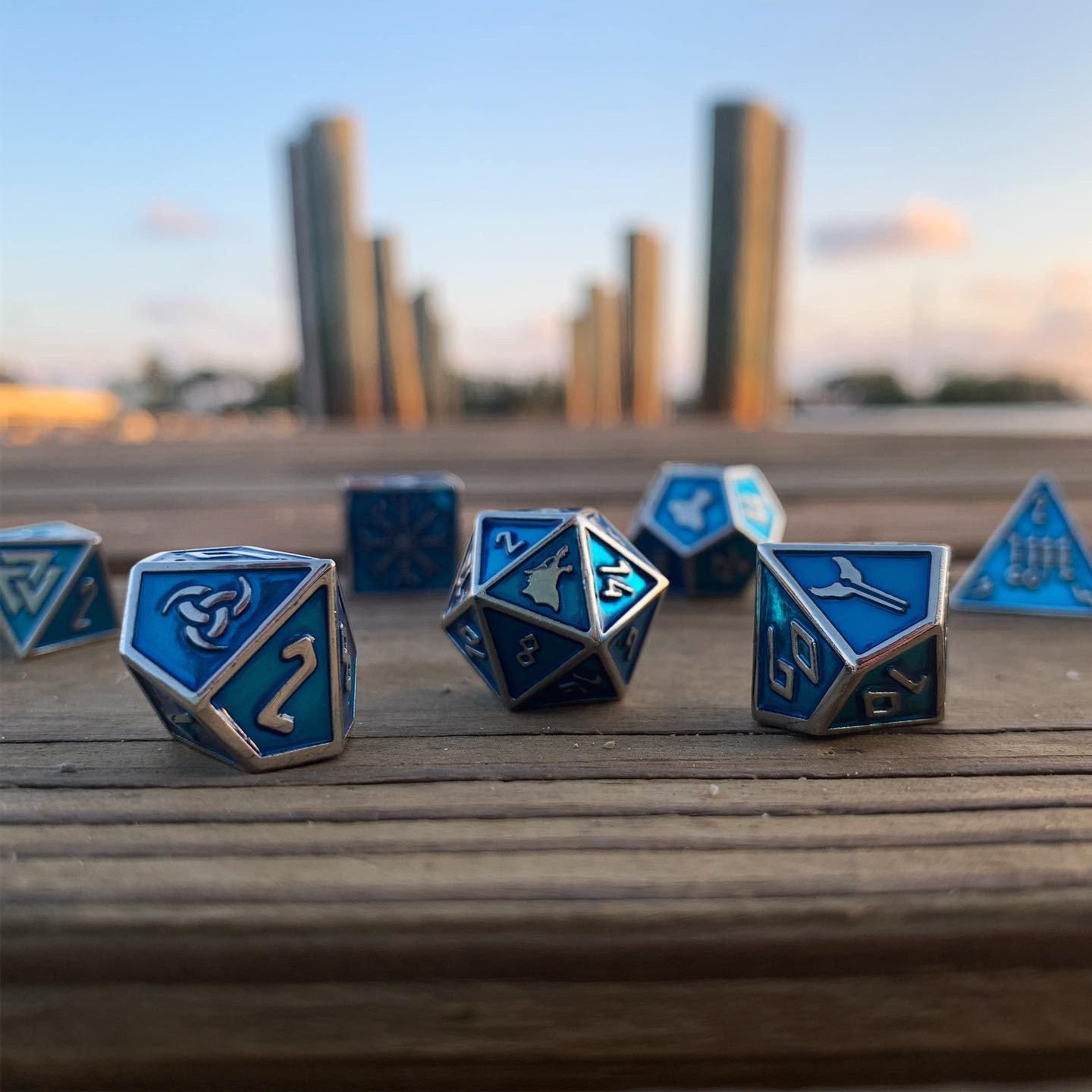 Vorpal Blade - Norse Themed Metal Dice Set