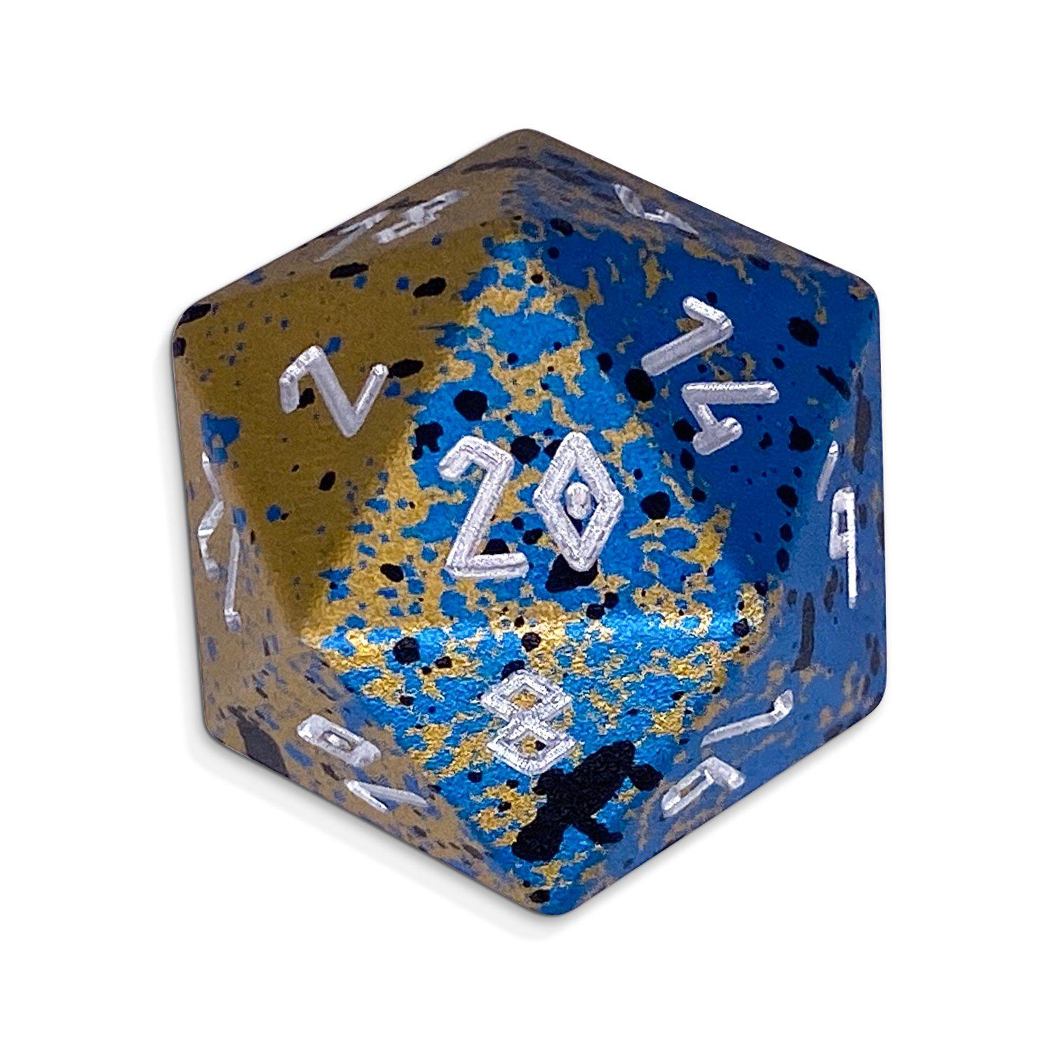Single Wondrous Dice® D20 in Assassins Blade by Norse Foundry