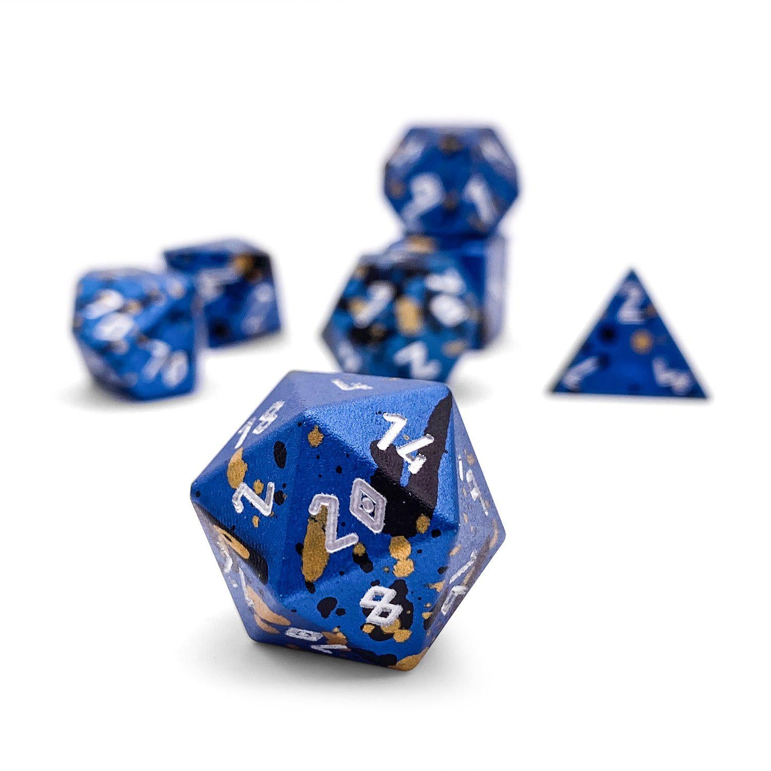 Assassin's Blade - Wondrous Dice Set of 7 RPG Dice by Norse Foundry Precision Polyhedral Dice Set