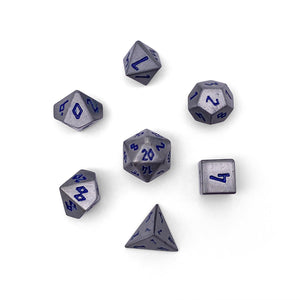 Atomic Metal Pebble Dice 10mm Alloy Mini Polyhedral Dice Set Norse Foundry When deciding on a weapon of choice why would you ever consider plastic when facing a horde of orcs and goblins on your doorstep? atomic metal pebble dice 10mm alloy mini polyhedral dice set