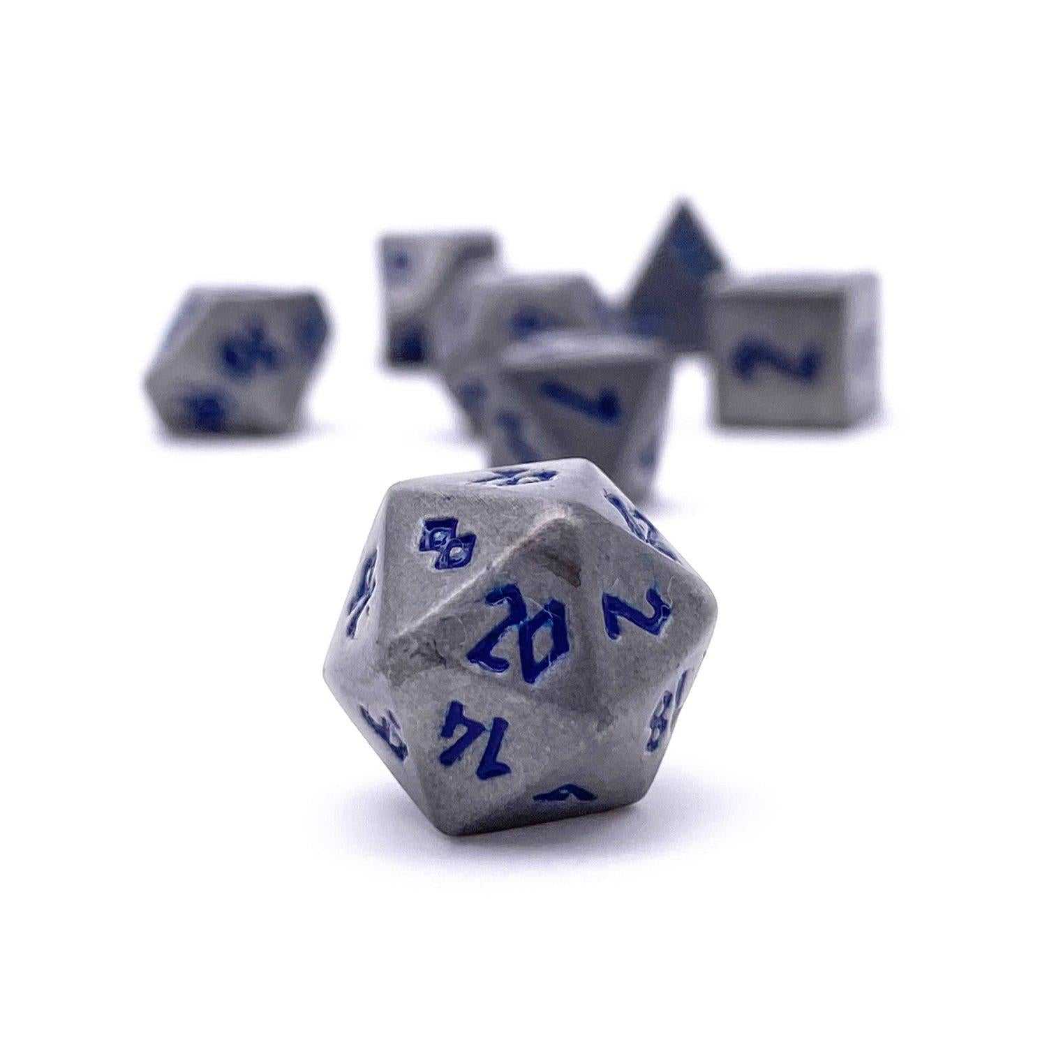 Atomic Metal Pebble ™ Dice - 10mm Alloy Mini Polyhedral Dice Set