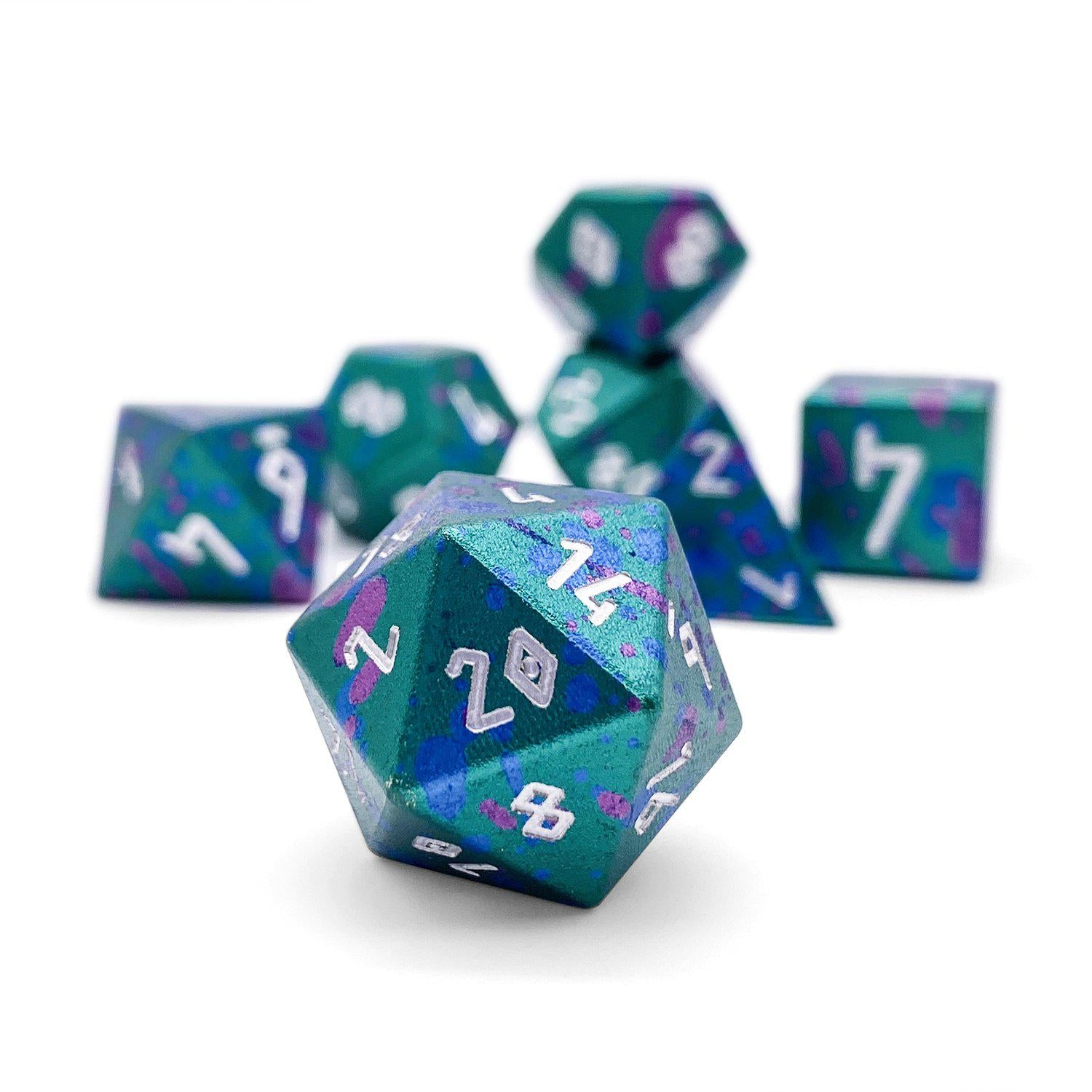 Augury - Wondrous Dice Set of 7 RPG Dice by Norse Foundry Precision Polyhedral Dice Set
