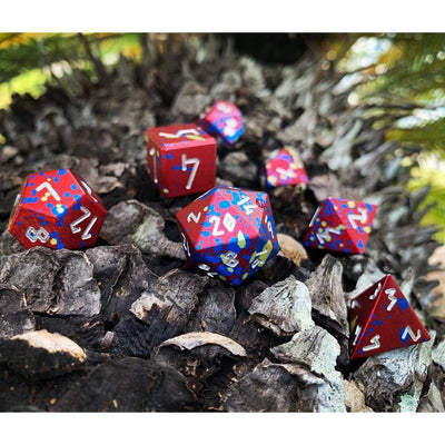 Barbarians Rage - Wondrous Dice Set of 7 RPG Dice by Norse Foundry Precision Polyhedral Dice Set