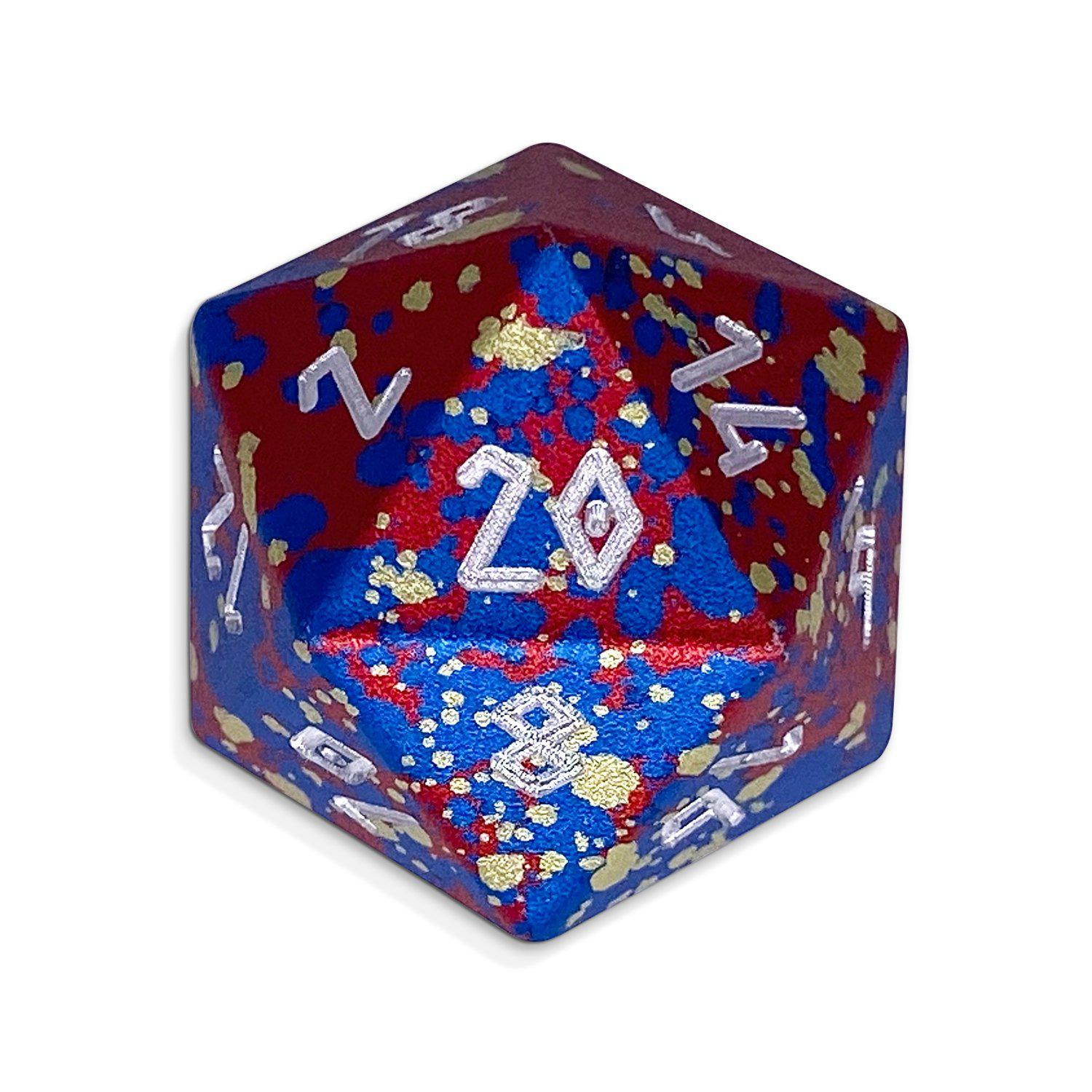 Single Wondrous Dice® D20 in Barbarians Rage by Norse Foundry