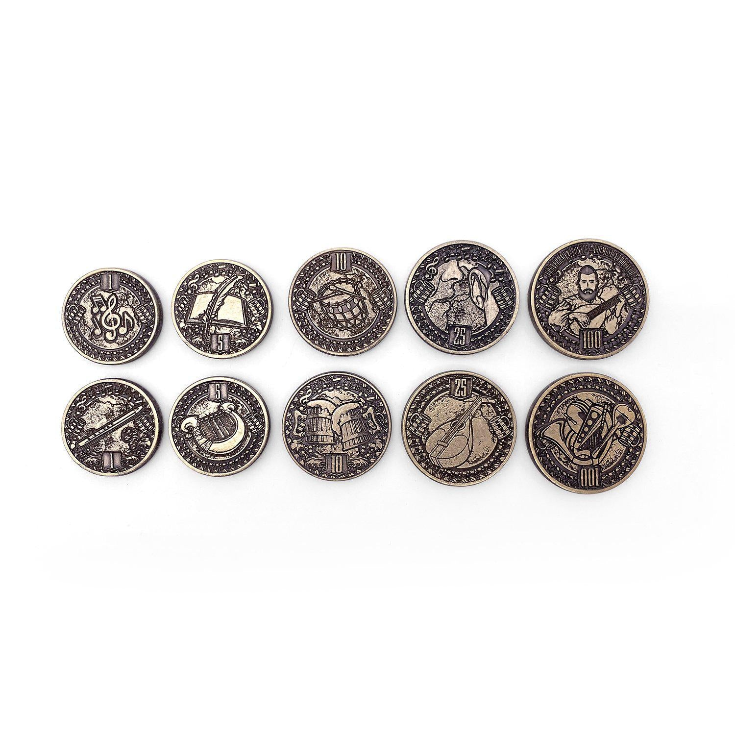 Adventure Coins - Bard Metal Coins Set of 10