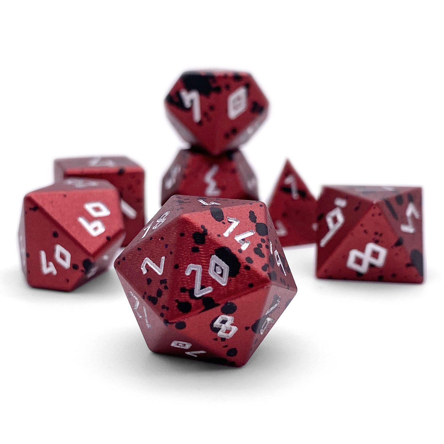 Berserker's Frenzy - Wondrous Dice Set of 7 RPG Dice by Norse Foundry Precision Polyhedral Dice Set