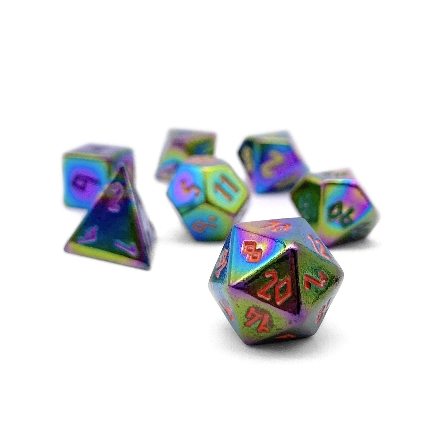 Bi-Frost Pebble ™ Dice - 10mm Alloy Mini Polyhedral Dice Set