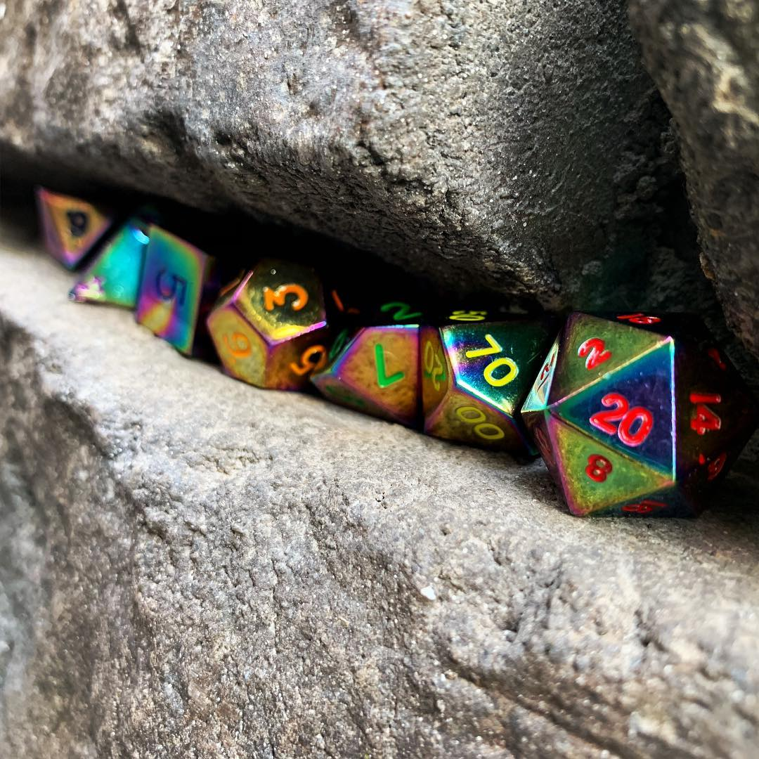 Bi-Frost Metal Dice Set