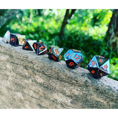 Fate Dice – Black Lava Pack of 4 Metal Dice