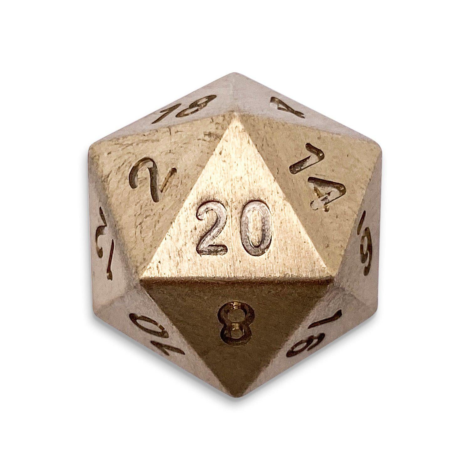 Single D20 in Brass by Norse Foundry