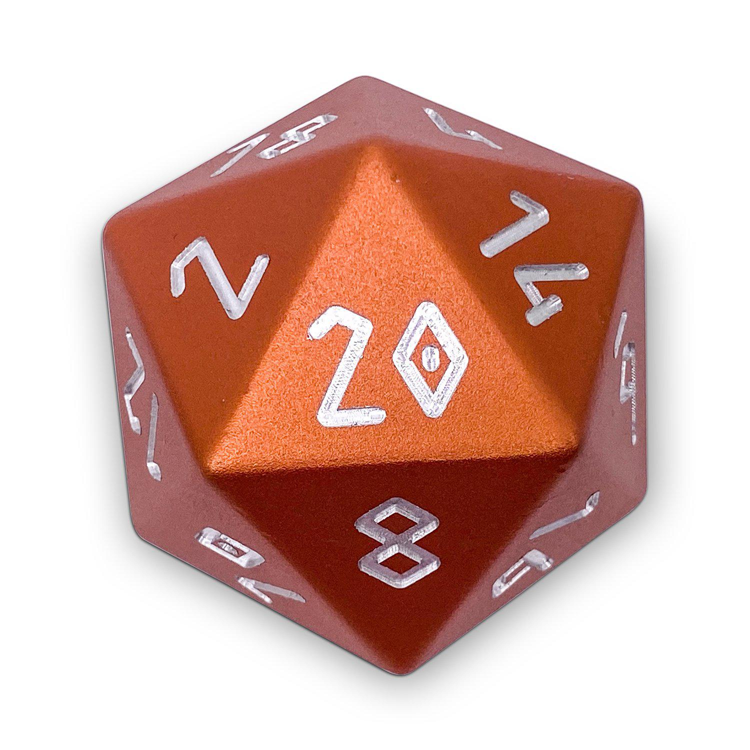 Chromatic Dragon Orange - Boulder® 55mm D20 6063 Aircraft Grade Aluminum Metal Die
