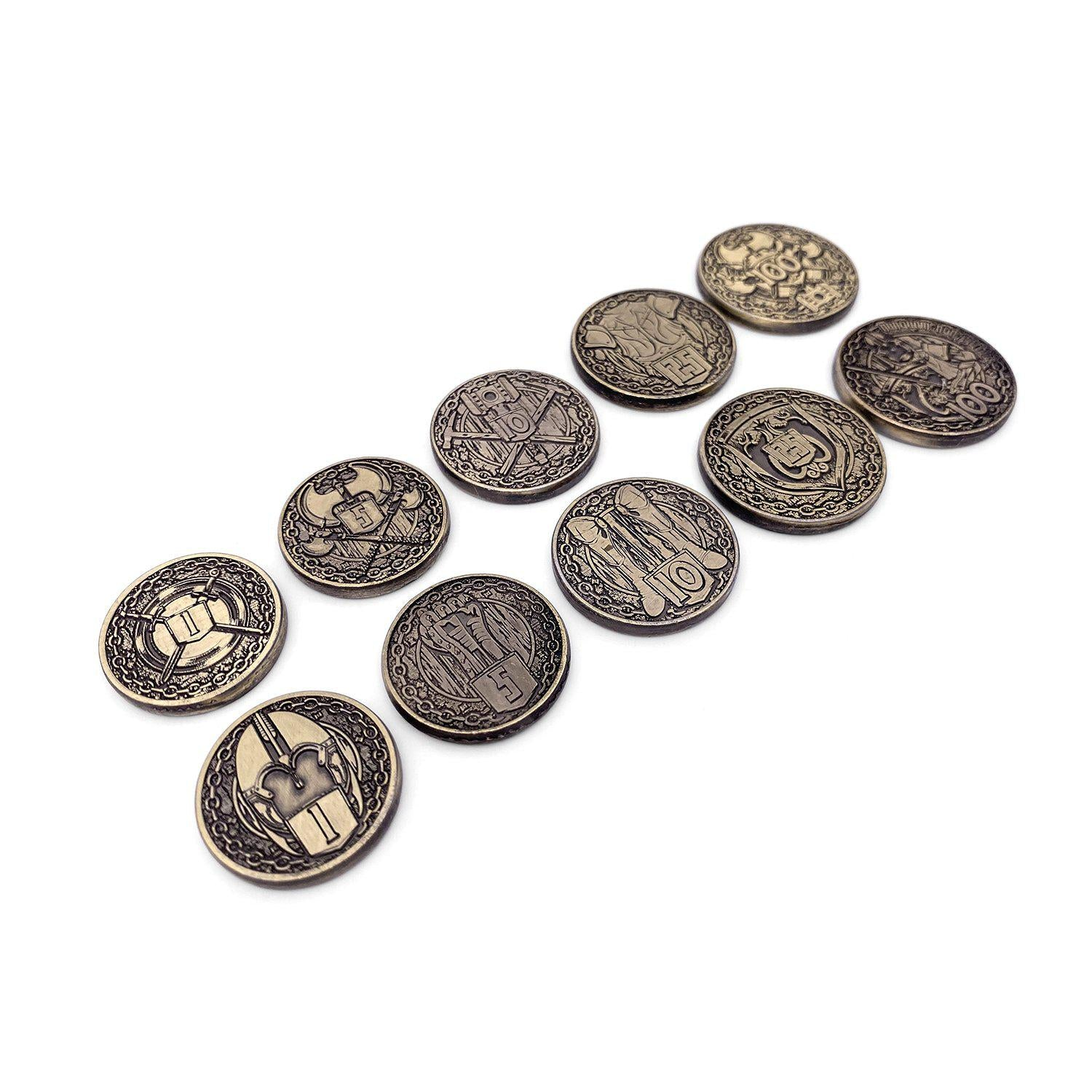 Adventure Coins - Fighter Metal Coins Set of 10