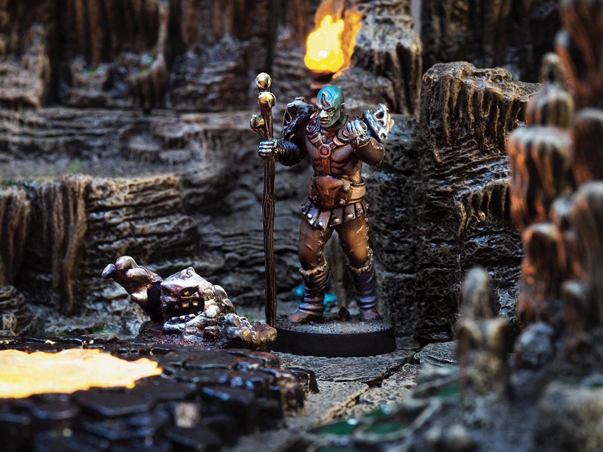 Coeus - Minotaur Light Armored 28mm Miniature By Adventures and Adversaries