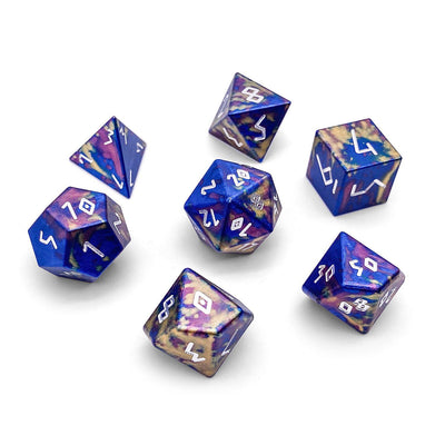 Color Spray - Wondrous Dice Set of 7 RPG Dice Norse Font by Norse Foundry Precision Polyhedral Dice Set