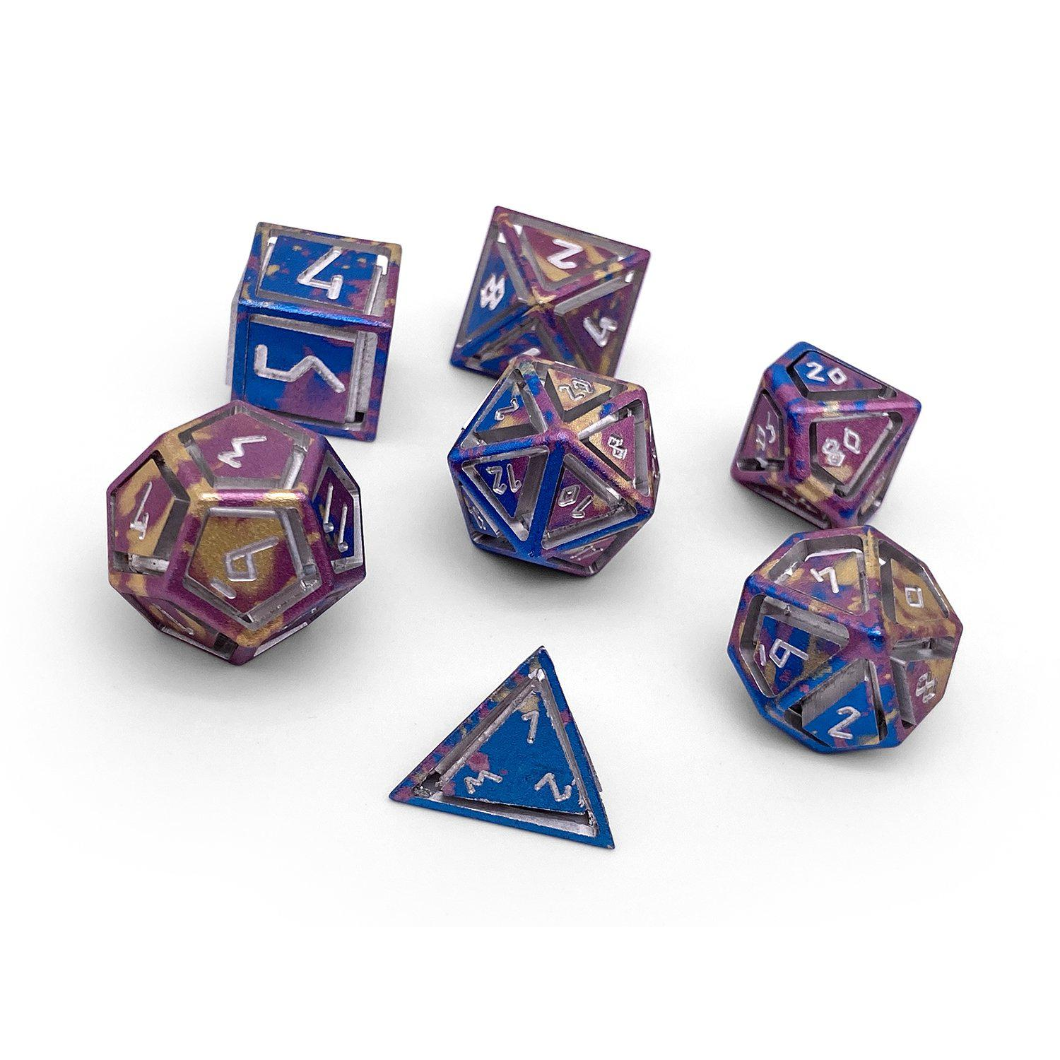 Nimbus Wondrous Precision CNC Aluminum Dice Set - Color Spray
