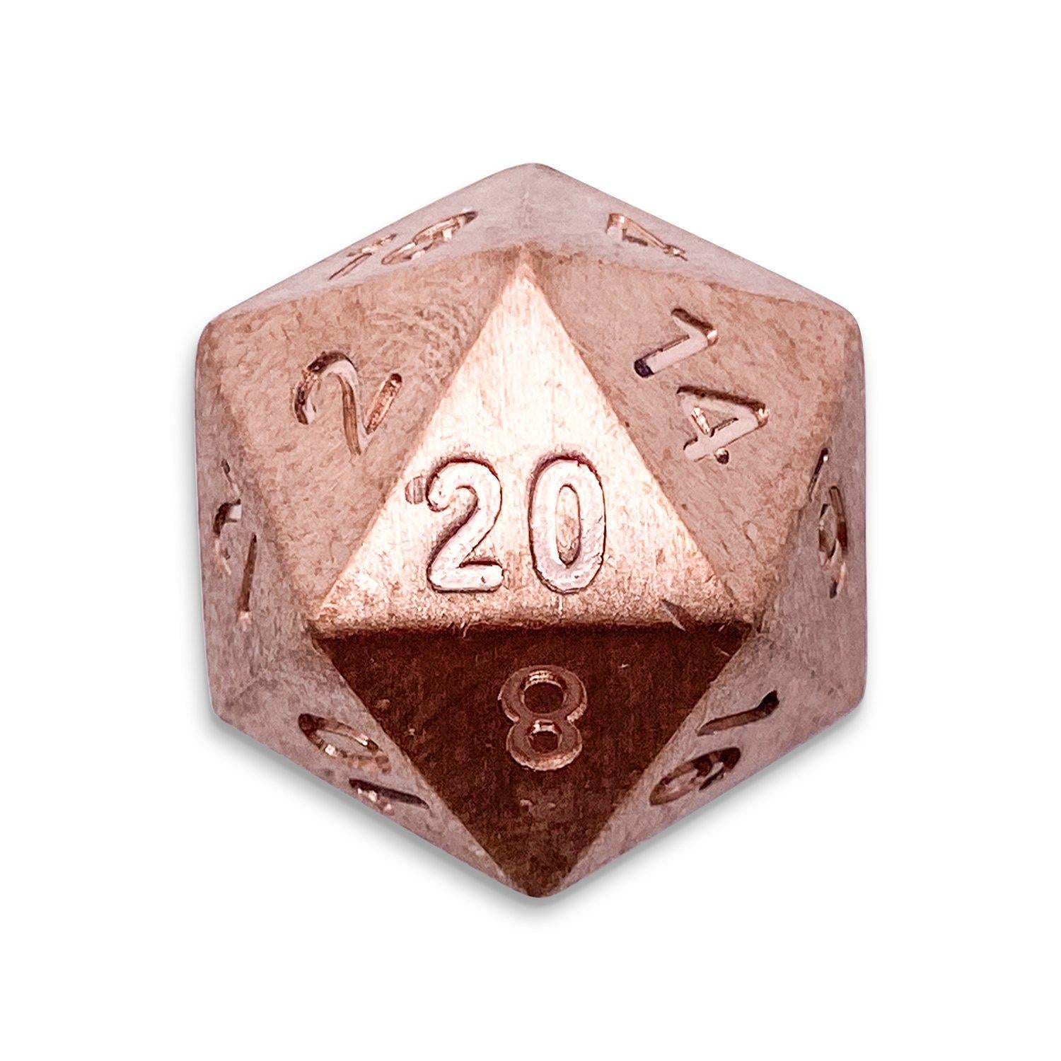 Single D20 in Copper by Norse Foundry