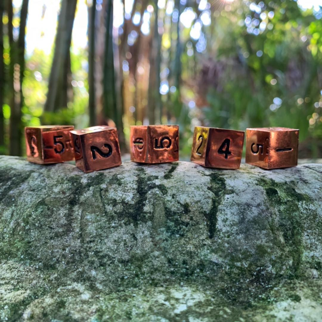5 Pack of D6'S – Commander Pack – Copper Still