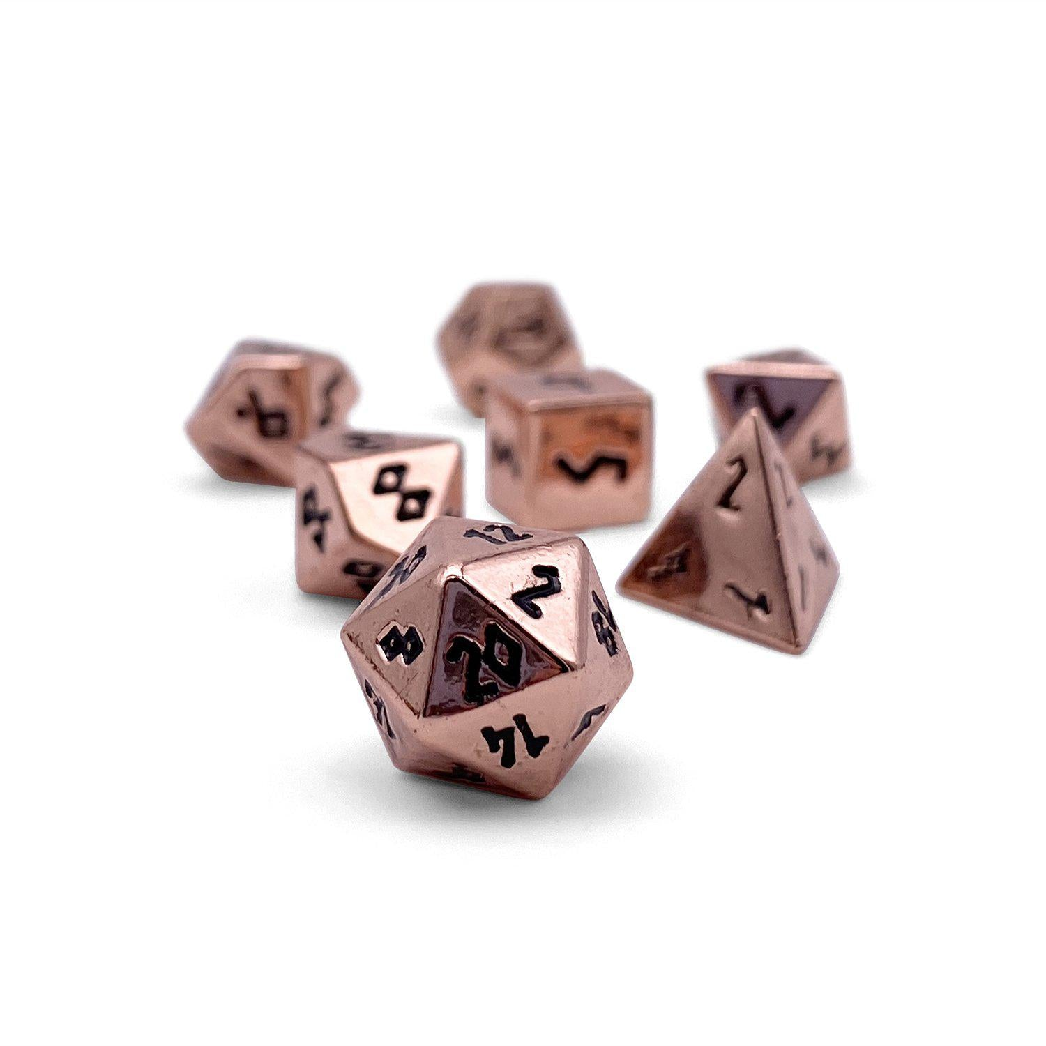 Copper Still Pebble ™ Dice - 10mm Alloy Mini Polyhedral Dice Set