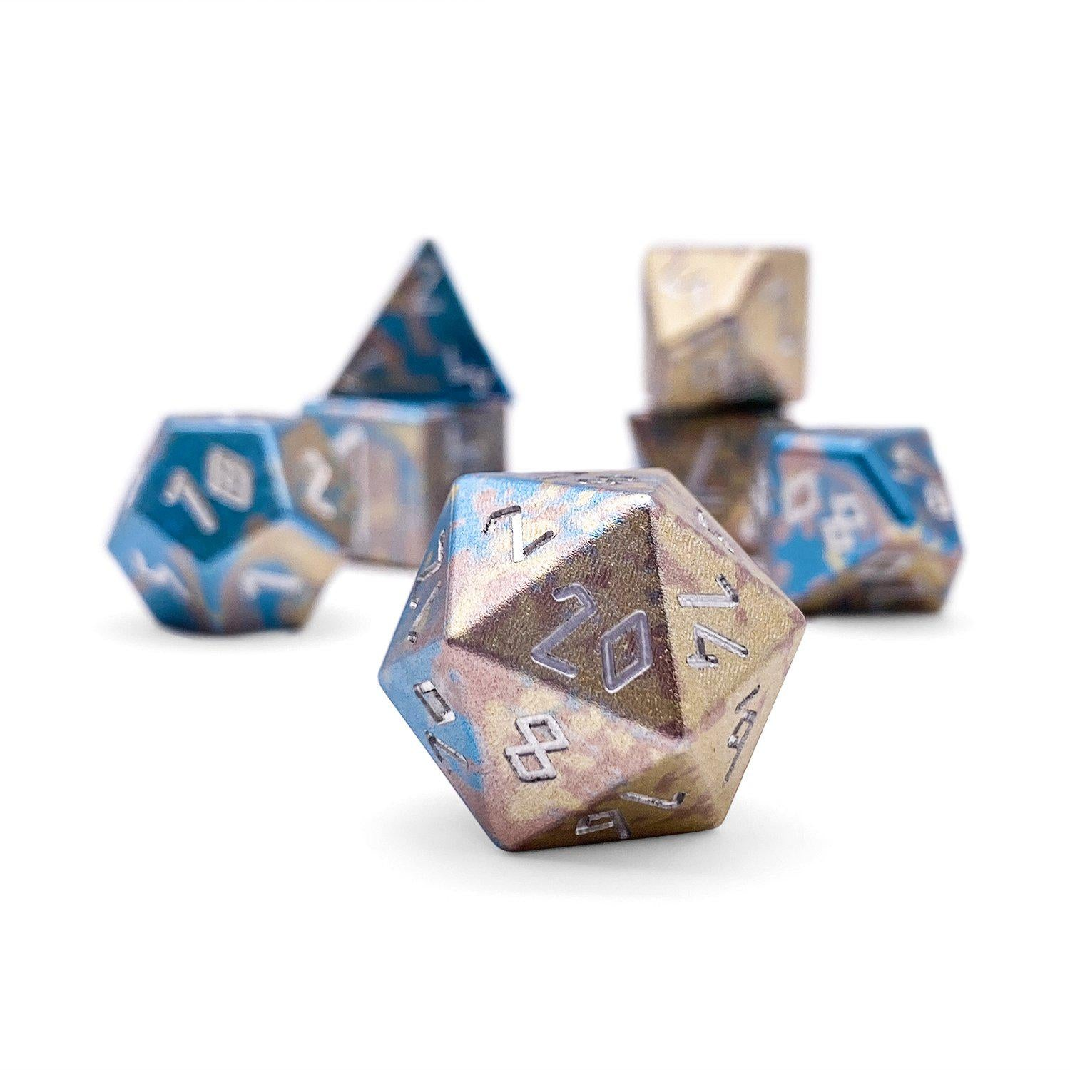 Cotton Candy - Wondrous Dice Set of 7 RPG Dice by Norse Foundry Precision Polyhedral Dice Set