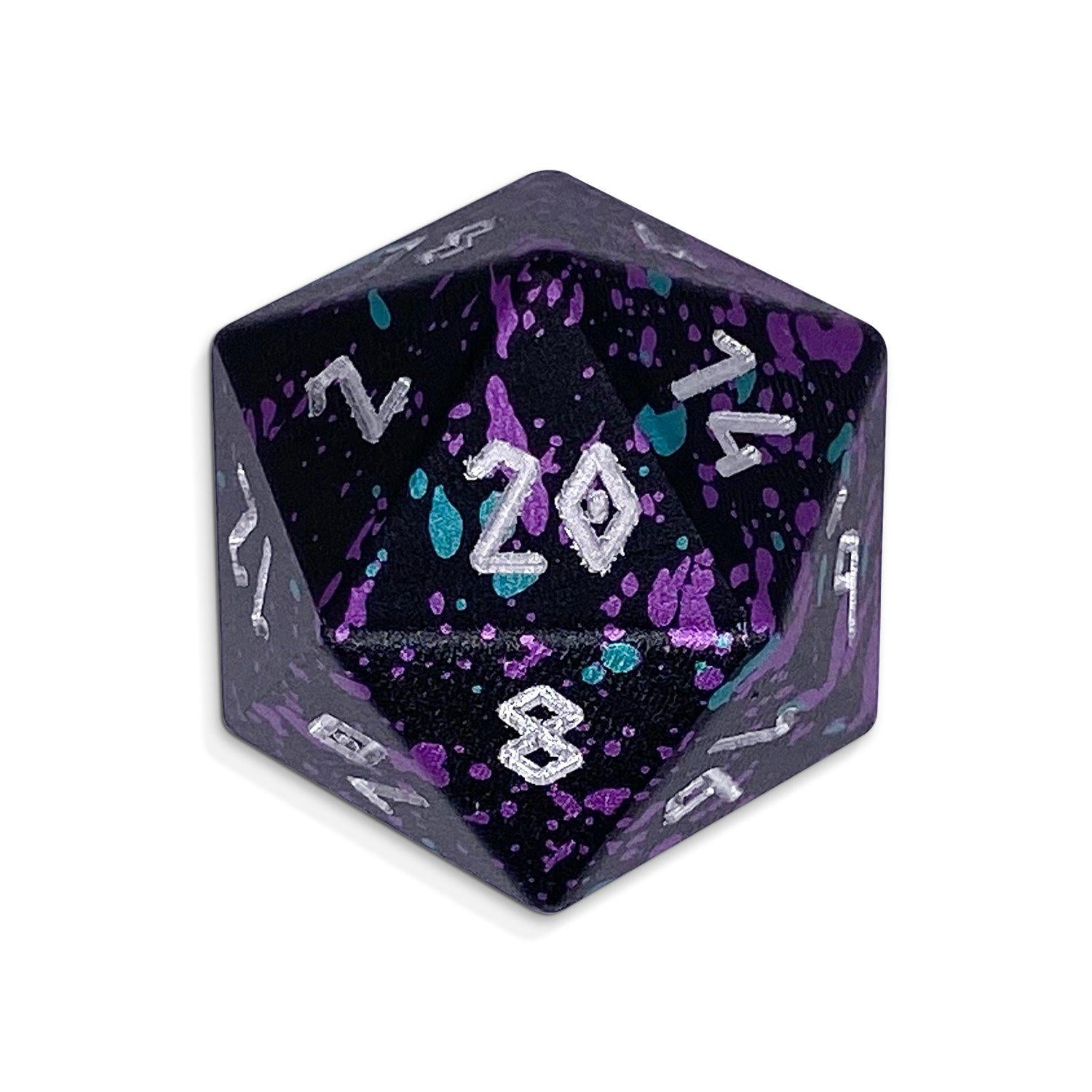 Court Jester - Single D20 Wondrous 20mm 6063 Aircraft Grade Aluminum Metal Die
