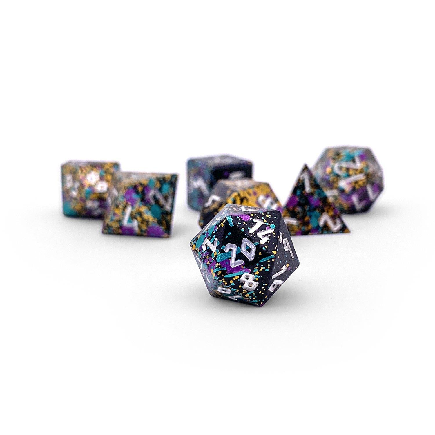 Court Jester Wondrous Pebble ™ Dice - 10mm 6063 Aircraft Grade Aluminum Mini