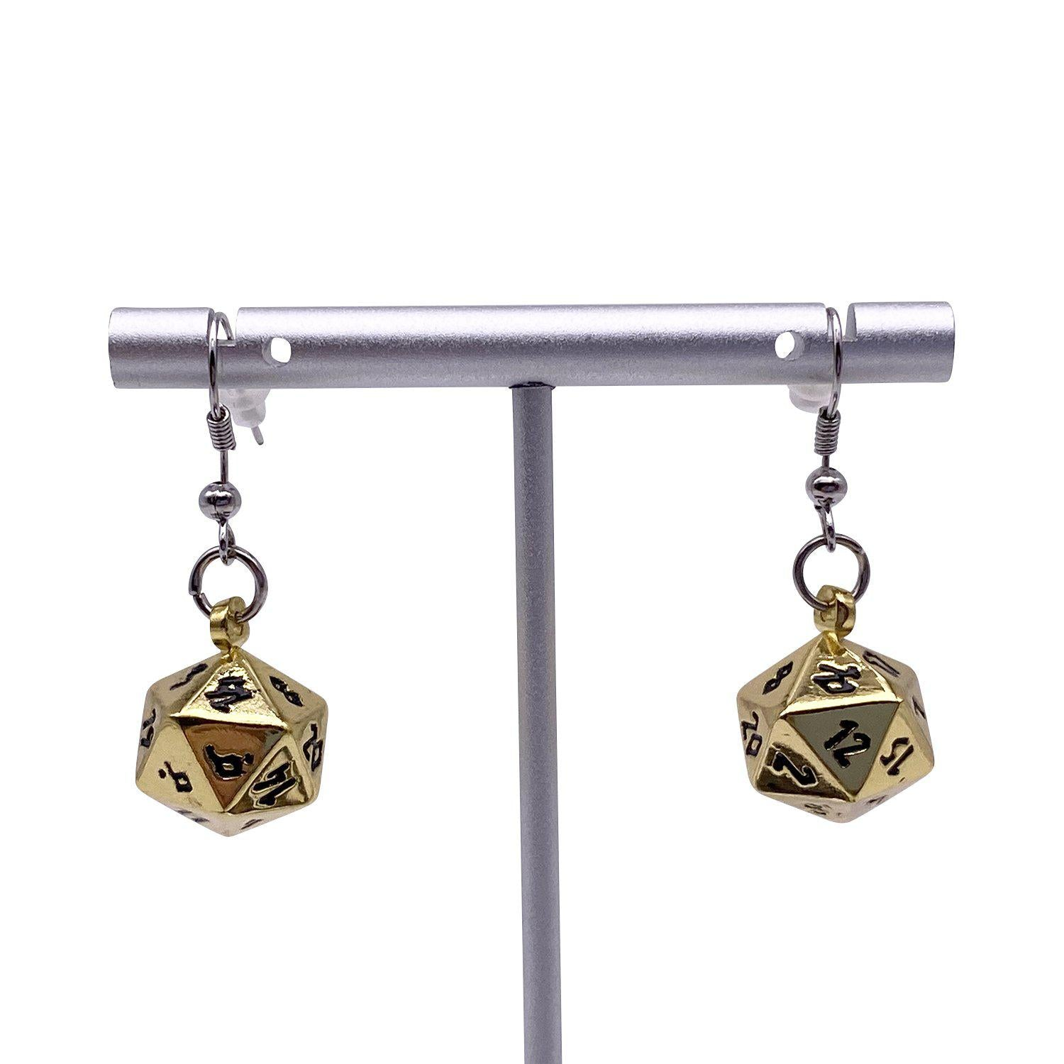 Dead Mans Gold - Ioun Stone D20 Dice Earrings by Norse Foundry