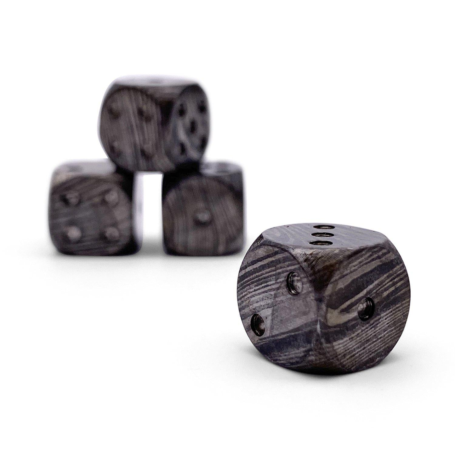 Damascus Steel D6 - Pips Dice