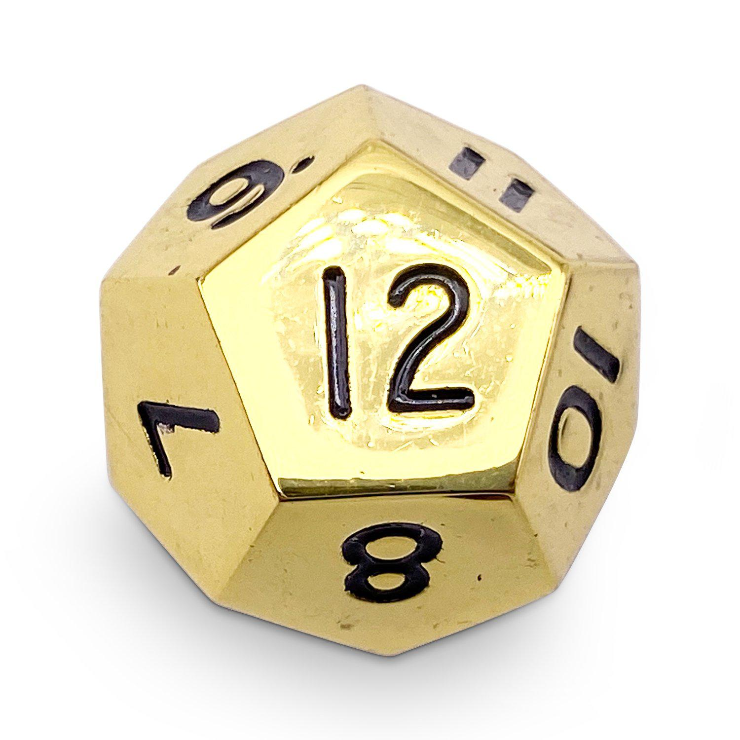 Single Alloy D12 in Dead Man's Gold by Norse Foundry