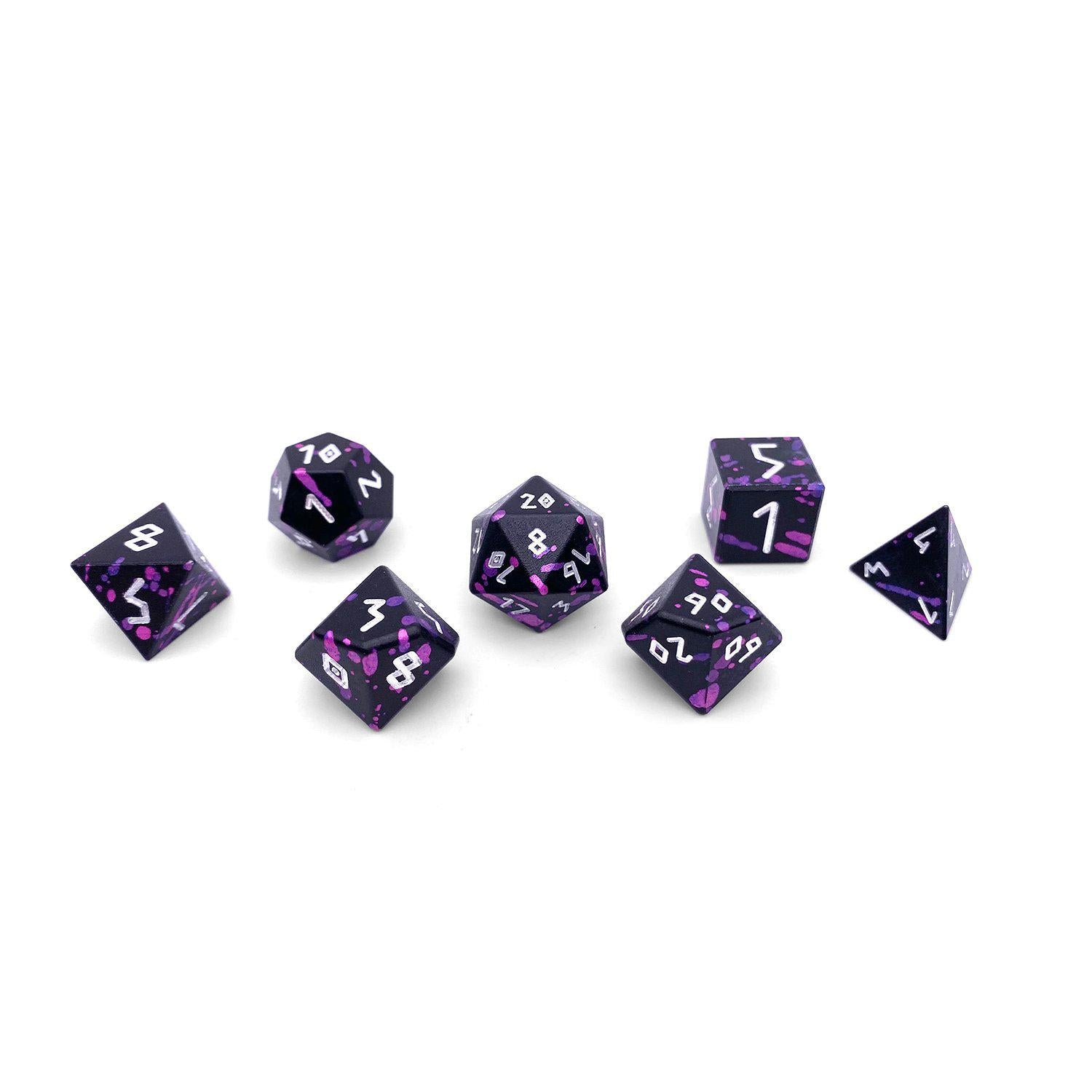 Death Knight - Wondrous Dice Set of 7 RPG Dice by Norse Foundry Precision Polyhedral Dice Set