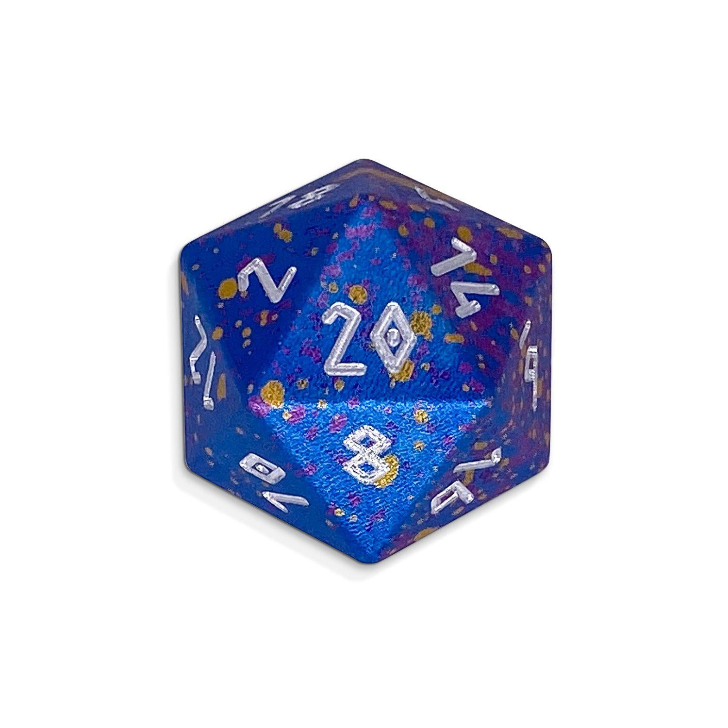 Single Wondrous Dice® D20 in Demon Queen by Norse Foundry 6063 Aircraft Grade Aluminum